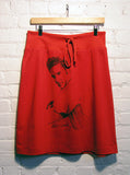 Elvis Presley Ranger Photo Printed Red Aline T-Shirt Skirt - IDILVICE Clothing - 2