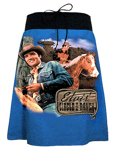 Elvis Presley Cowboy Ranch A-Line Skirt - IDILVICE Clothing