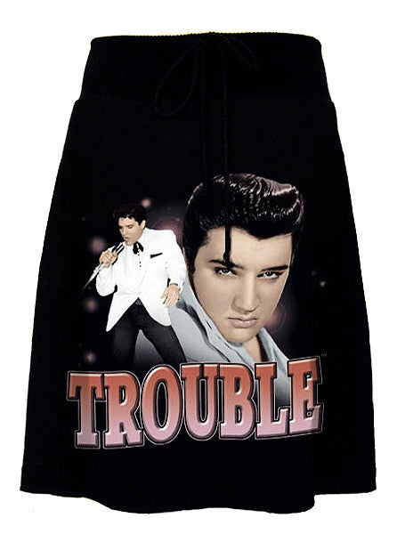 Elvis Presley Trouble Rockabilly Aline T-Shirt Skirt - IDILVICE Clothing