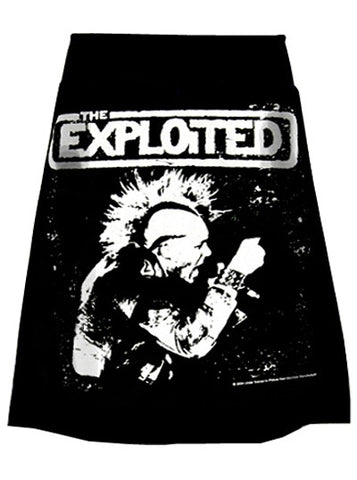 The Exploited Wattie Buchan Print Punk T-Shirt Skirt
