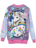 Kitten Fairies Unicorn All Over Print Jumper - IDILVICE Clothing - 1