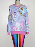 Kitten Fairies Unicorn All Over Print Jumper - IDILVICE Clothing - 3