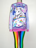Kitten Fairies Unicorn All Over Print Jumper - IDILVICE Clothing - 5