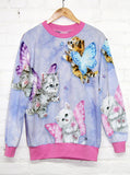 Kitten Fairies Unicorn All Over Print Jumper - IDILVICE Clothing - 2