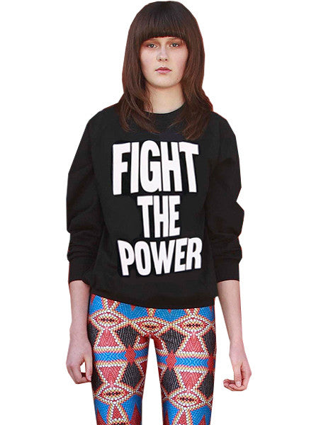 Public Enemy Fight The Power Organic Sweatshirt - IDILVICE Clothing - 1