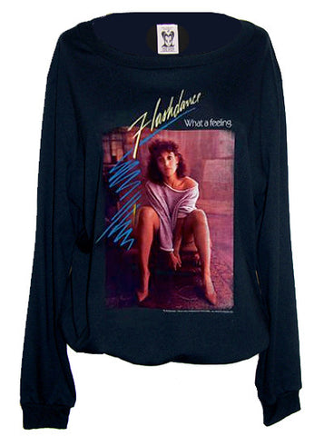 Flashdance Jennifer Beals 80s Retro Jumper