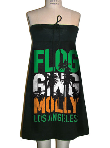 Flogging Molly LA Celtic Rancid Pogues Tube Strapless Dress