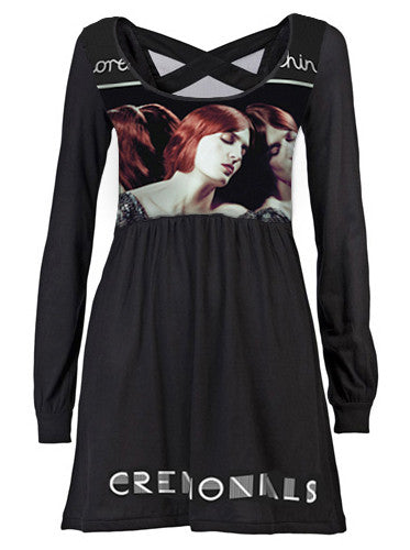 Florence & The Machine Scoop Neck Cross Back Mini Dress