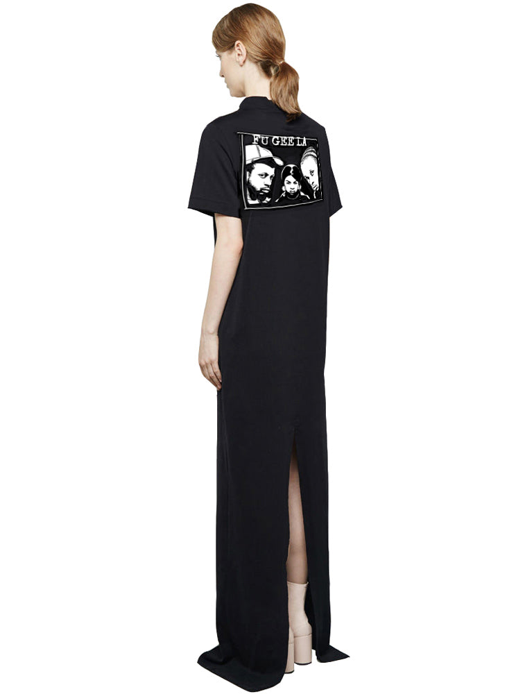The Fugees by Carl Posey Maxi Mockneck T-Shirt Dress