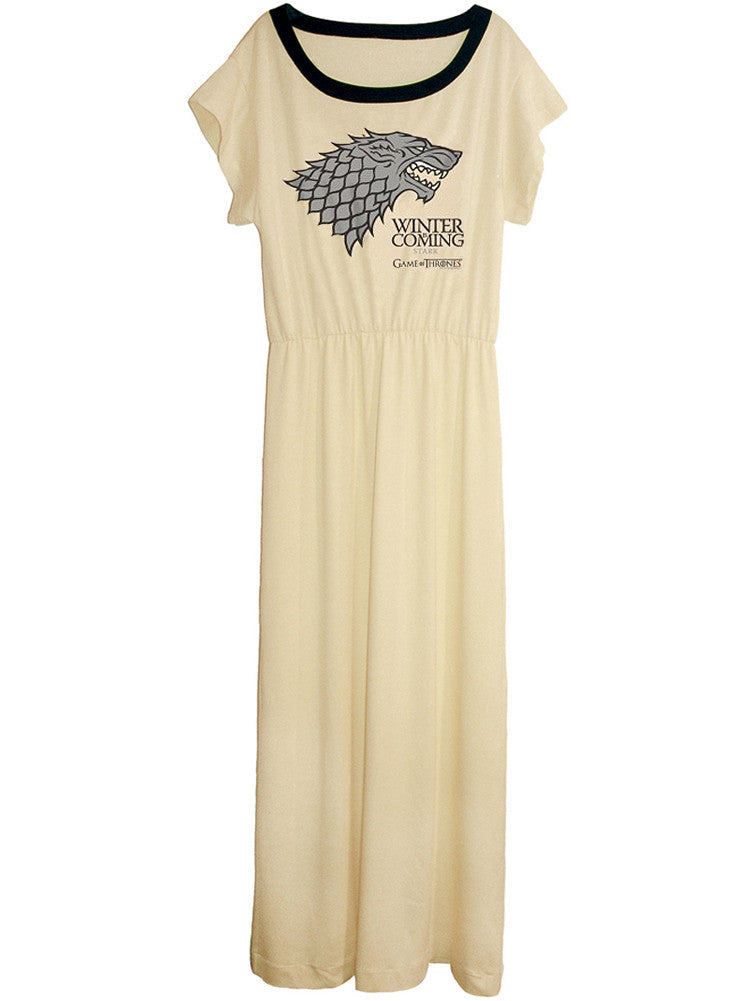 Game Of Thrones Winter Is Coming Stark Long Maxi Dress Gown - IDILVICE Clothing - 1