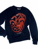 Game Of Thrones Targaryen Dragon Sigil French Terry Sweatshirt - IDILVICE Clothing - 1