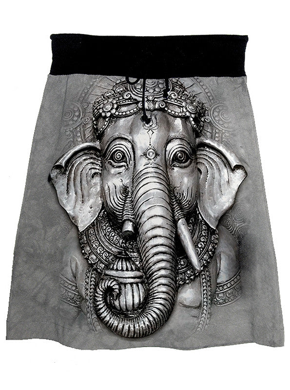 Ganesh Hindu God Elephant Tie Dye Skirt - IDILVICE Clothing