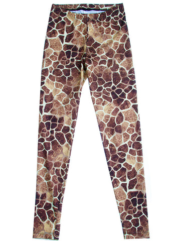 Giraffe Animal Print Spandex Leggings