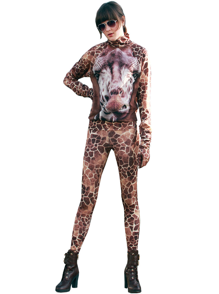 Giraffe Animal Print 2-Piece Outfit - IDILVICE Clothing - 1