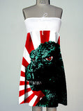 Godzilla Rising Sun Pop Art Strapless Dress - IDILVICE Clothing - 2