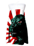 Godzilla Rising Sun Pop Art Strapless Dress - IDILVICE Clothing - 1