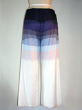 Gradient Print Double Layer Sheer Cotton Drawstring Pants - IDILVICE Clothing - 3