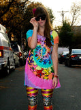 Grateful Dead Spiral Bears Psychedelic Tunic Dress - IDILVICE Clothing - 2