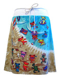 Grateful Dead Bears Beach Tie Dye T-Shirt Skirt - IDILVICE Clothing - 1