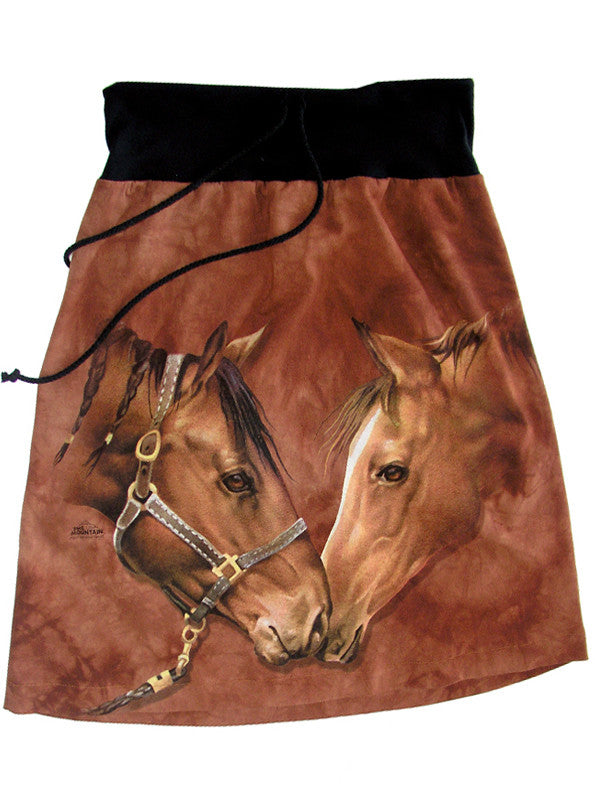 Horses Hello Tie Dye Equestrian Skirt - IDILVICE Clothing - 1