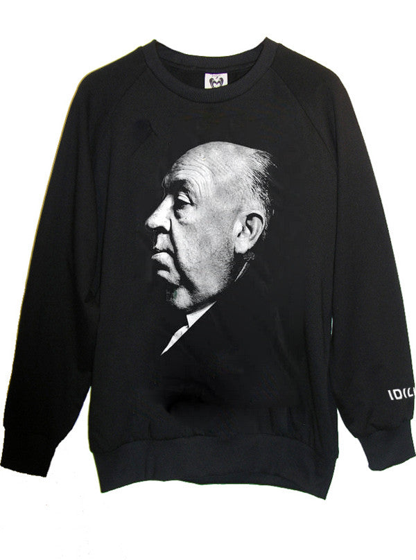 Alfred Hitchcock Portrait Photo Organic French Terry Sweatshirt