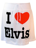 I Heart Elvis Presley A-Line Drawstring Skirt - IDILVICE Clothing - 1