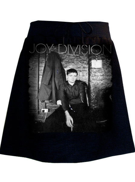 Pensive Ian Curtis of Joy Division Photo Print Skirt - IDILVICE Clothing