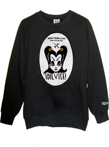 Vintage 90's IDILVICE Logo Photo Printed Organic French Terry Sweatshirt