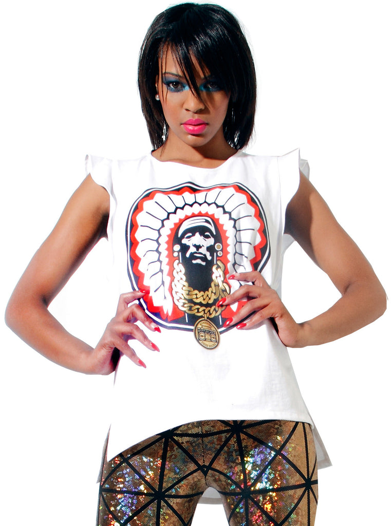American Indian Chief Gold Chain Top - IDILVICE Clothing - 1