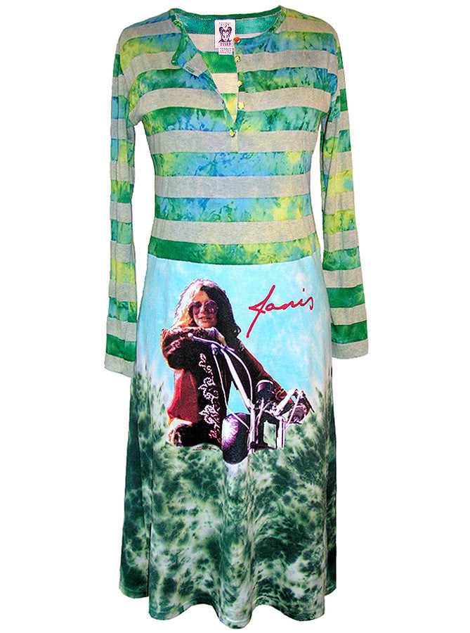 Janis Joplin Tie Dye Long Sleeve Dress - IDILVICE Clothing - 1