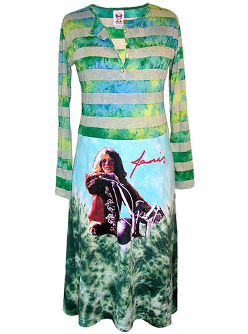 Janis Joplin Tie Dye Long Sleeve Dress