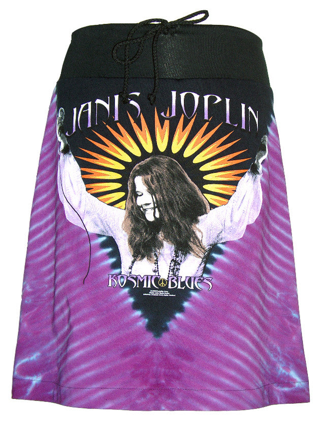 Janis Joplin Kozmic Blues Tie Dye T-Shirt Skirt - IDILVICE Clothing - 1