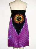 Janis Joplin Hippie Tie Dye Strapless Tube Dress - IDILVICE Clothing - 2