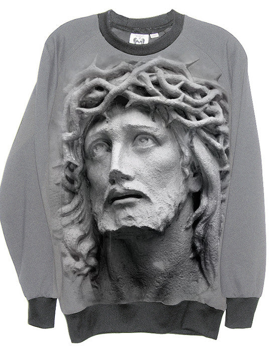 Jesus Carved In Stone Sweatshirt - IDILVICE Clothing