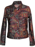 Jim Morrison Psychedelic Women's Denim Jeans Jacket - IDILVICE Clothing - 2