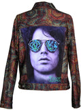 Jim Morrison Psychedelic Women's Denim Jeans Jacket - IDILVICE Clothing - 1