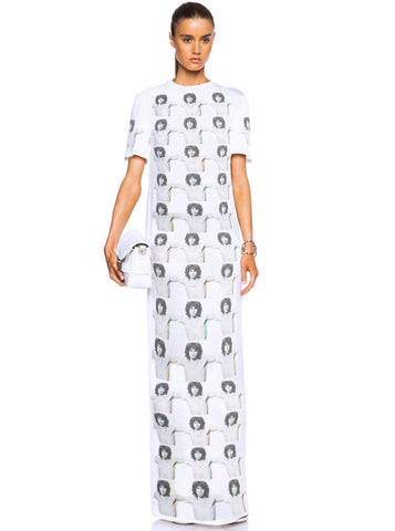 Jim Morrison Chest Repeat Maxi T-Shirt Dress