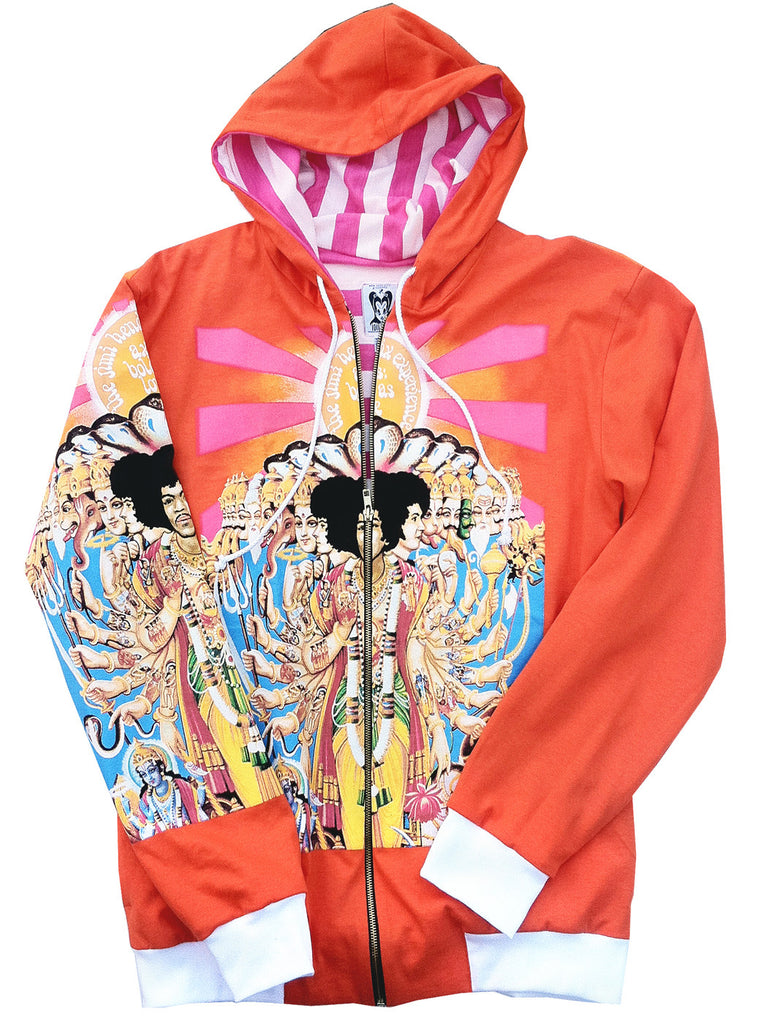 Jimi Hendrix Axis Bold As Love Orange Hoodie - IDILVICE Clothing