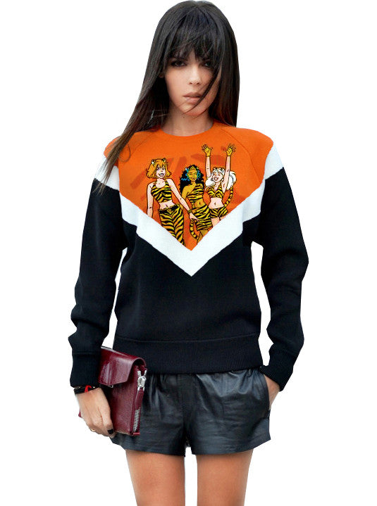 Josie And The Pussycats Archie Color Block Sweatshirt - IDILVICE Clothing