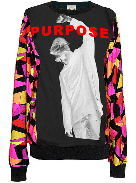 Purpose Justin Bieber Pucci Pattern Sweater Top - IDILVICE Clothing