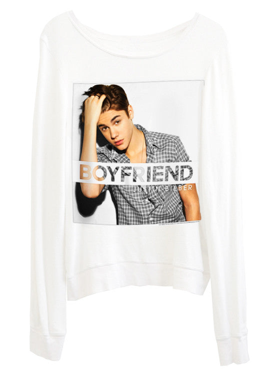Justin Bieber Boyfriend Photo Print Slouchy Jumper - IDILVICE Clothing