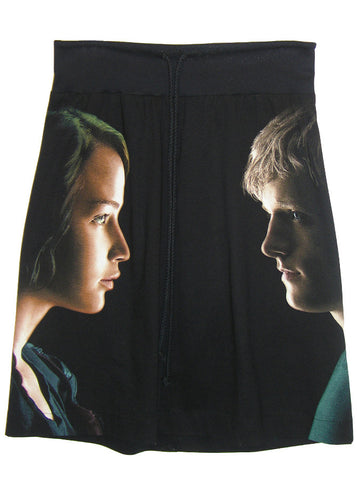Katniss & Peeta Hunger Games T-Shirt Skirt