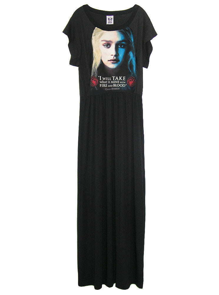 Fire And Blood Khaleesi Game Of Thrones Long Maxi Dress Gown - IDILVICE Clothing
