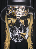 Kid Rock Desert Skull Gold Foil Slouchy Loose Sweater T-Shirt Top - IDILVICE Clothing - 4