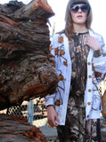 Winter Leaves Print Sweatshirt Cardigan Jacket - IDILVICE Clothing - 3
