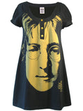 John Lennon Face Peace Specs Mini Dress - IDILVICE Clothing - 1