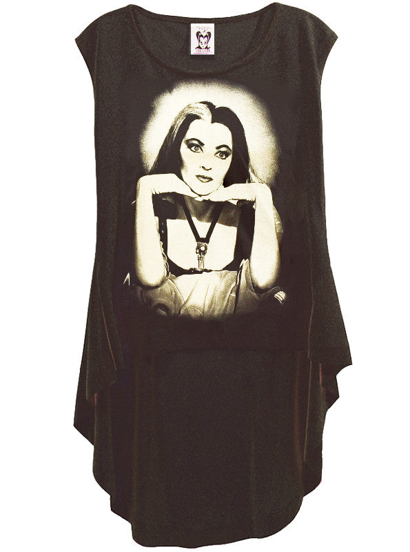 The Munsters Lily Ivonne De Carlo HI-LOW Hem Top - IDILVICE Clothing - 1