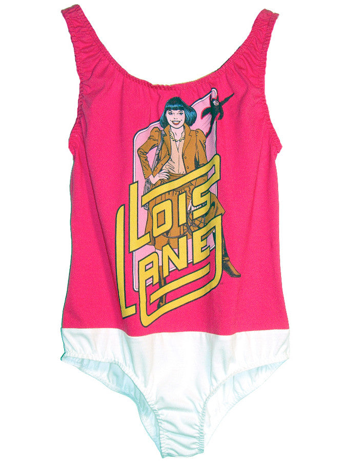 Superman's Love Interest Lois Lane Pop Art Two Tone Body Suit