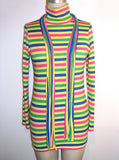 Neon Stripe Turtleneck Top - IDILVICE Clothing - 4