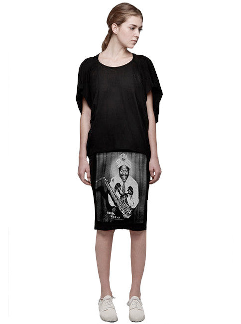Louis Jordan Jazz Photo Print Pencil T-Shirt Skirt - IDILVICE Clothing